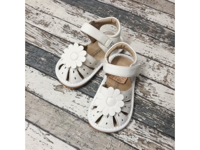 Boty Little blue lamb, Toddler white shoe