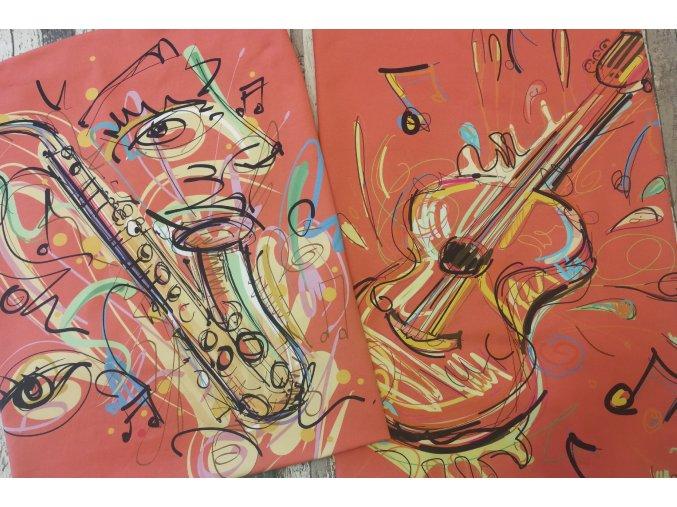 Panel panoramatický - úplet, hudební nástroje 120 cm