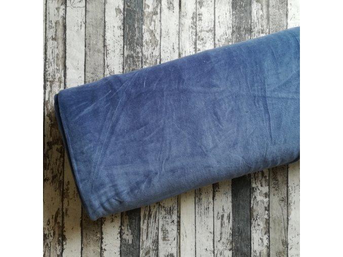 Kojenecký plyš, modrý jeans 006