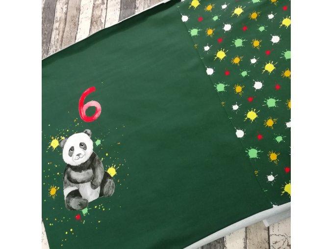 Panel panoramatický - úplet, šestka s pandou