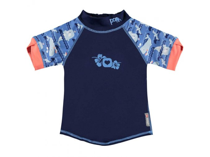 50122634 Pop in Rash Vest Short Sleeve Whale Front 1000x1000