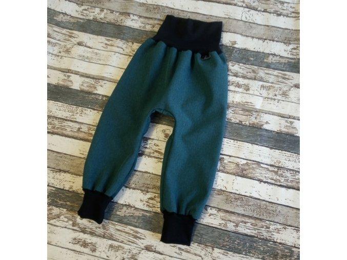 Softshellové kalhoty Yháček, zimní, žíhané, petrolej