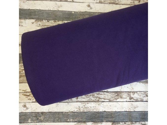 Fleece antipiling, 190 g, tmavě fialový, 520