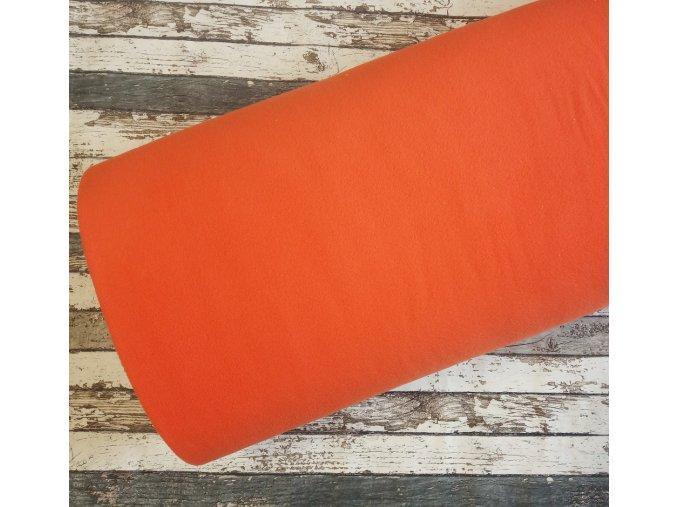 Fleece antipiling, 190 g, pomerančový, 616