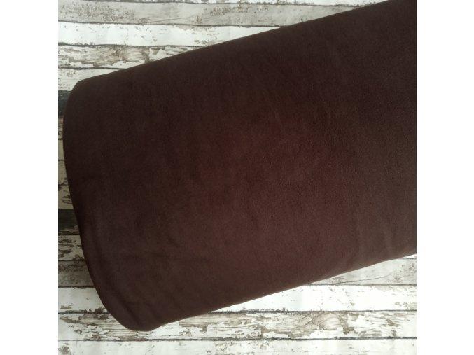 Fleece antipiling, 300 g, tmavě hnědá, 22