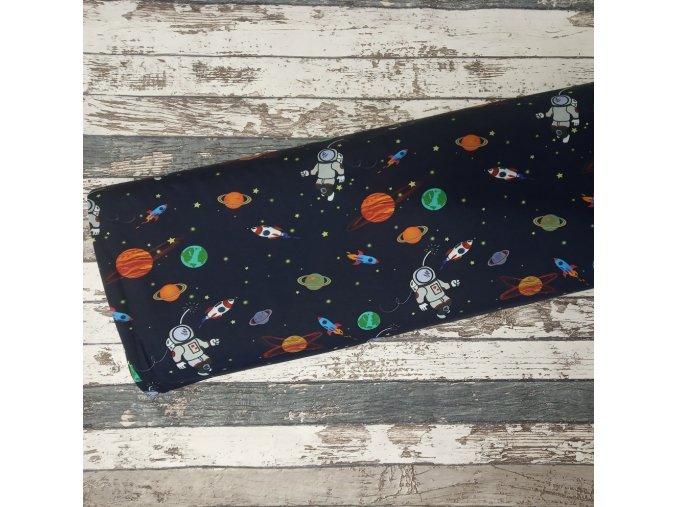 Úplet Kosmonauti na temně modré