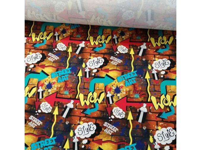 Teplákovina Graffiti zeď