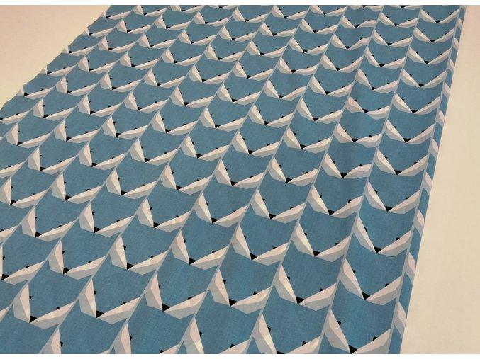 Plátno modré lišky