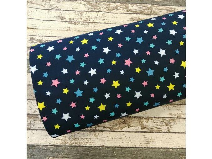 Softshell zimní, barevné hvězdičky na navy