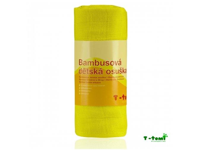 Bambusová osuška T tomi, žlutá