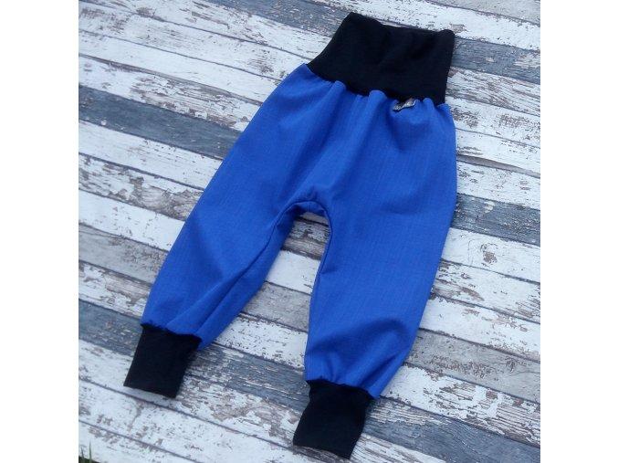 Softshellové kalhoty Yháček, podzim, královsky modrá/černá