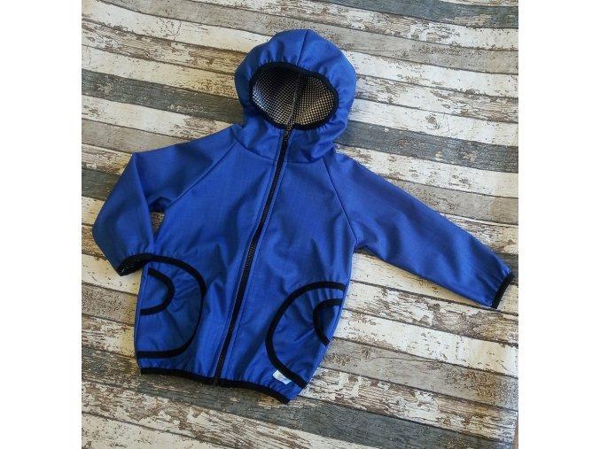 Softshellová bunda Yháček, podzim, královsky modrá