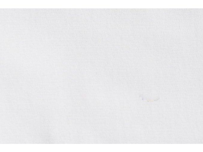 Teplákovina organická bavlna, bílá 050
