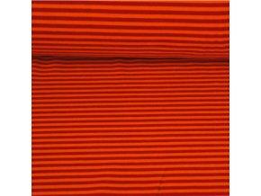 Kojenecký plyš, pruhy s oranžovou