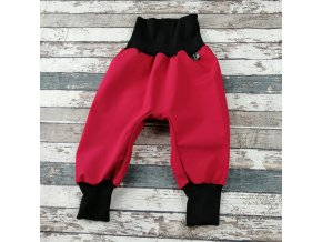 Softshellové kalhoty Yháček, letní, bordó