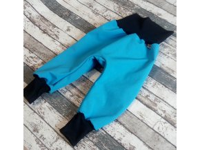 Softshellové kalhoty Yháček, zimní, tyrkys/černá