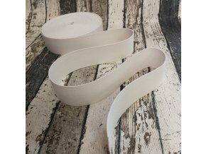 Hladká pruženka 40 mm - bílá