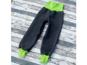 Softshellové kalhoty Yháček, zimní, šedá/zelená