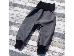 Softshellové kalhoty Yháček, zimní, žíhané, šedá