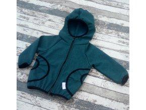 Softshellová bunda Yháček, zimní, žíhaná, petrolejová