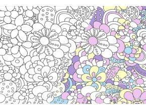 Úplet UV květy