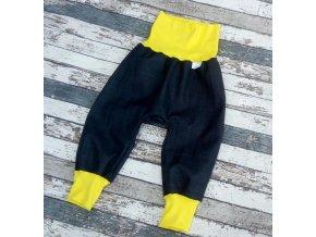 Softshellové kalhoty Yháček, podzim, temně šedá/žlutá