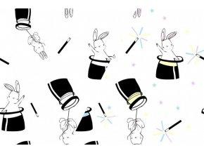 Úplet UV králíci v klobouku
