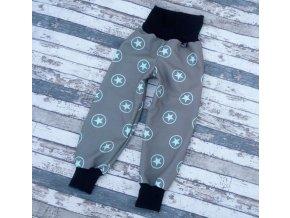 Zimní softshellové kalhotky Yháček, hvězdy mentolové