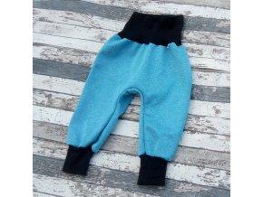 Softshellové kalhoty Yháček, zimní, tyrkysový melír/černá
