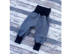 Softshellové kalhoty Yháček, podzim, šedá/černá