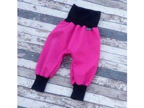 Softshellové kalhoty Yháček, podzim, malina/černá
