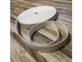 Hladká pruženka 20 mm stříbrná