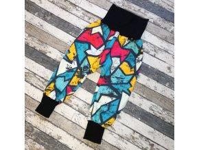Zimní softshellové kalhoty Yháček, graffiti