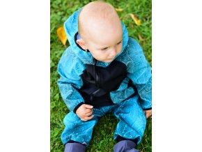 Softshellová bunda Yháček, zimní, abstrakce