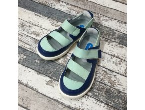 Boty Little blue lamb, Green sandals