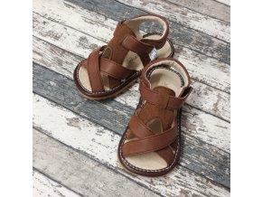 Boty Little blue lamb, Toddler brown shoe