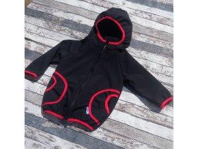 Softshellová bunda Yháček, zimní,černá/červená