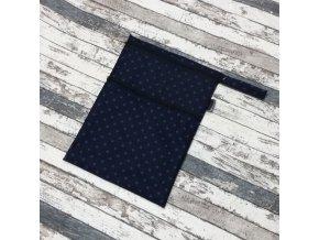 Pytel na pleny Yháček, dvoukomorový, modrý puntík na navy