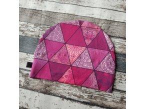 Rostoucí čepička Yháček, trojúhelník růžová