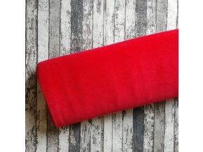 Fleece antipilling, červený 015