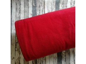 Fleece antipilling, červený  tmavší 016