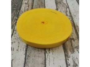 Pruženka půlená, žlutá 19 mm