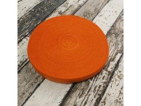 Pruženka půlená, oranžová 19 mm