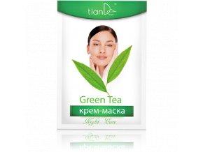 Pleťová maska Zelený čaj, noční