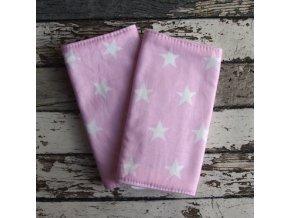 Chrániče popruhů na nosítko Yháček (slintáčky), hvězdy na růžové