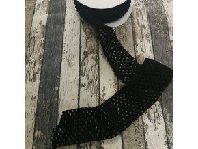 Síťovaná pruženka černá