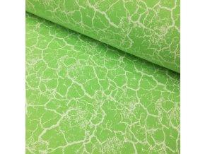 Teplákovina, mramor na neonově zelené