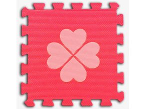 m penove baby puzzle ctyrlistky 1 dil cerveny 36987