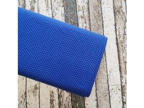 Úplet puntíky drobné, královsky modrá 005