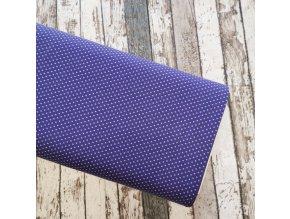 Úplet puntíky drobné, fialová 042